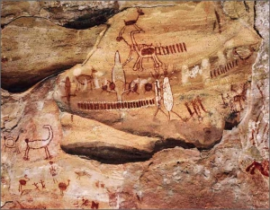 Серра-да-Капивара (Cave paintings at Serra da Capivara)